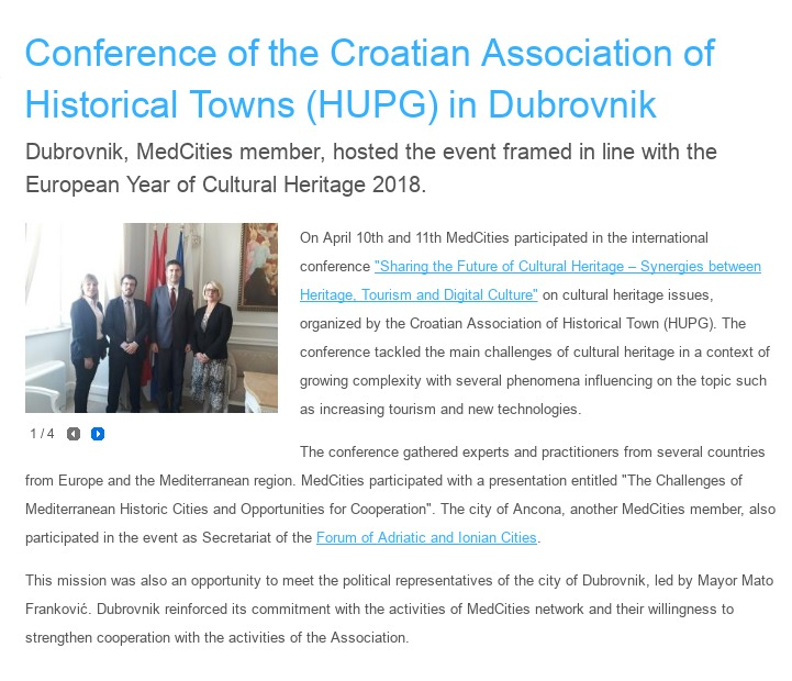 HUPG conference 2018 - MedCities