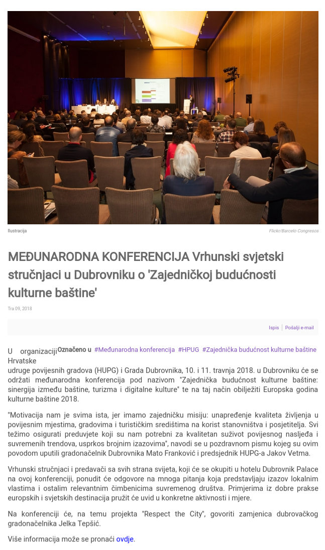 HUPG konferencija 2018 - najava na nportal.hr