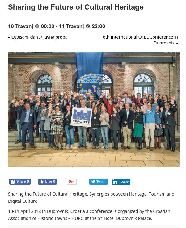 HUPG konferencija 2018. - najava na dubrovniknet.hr