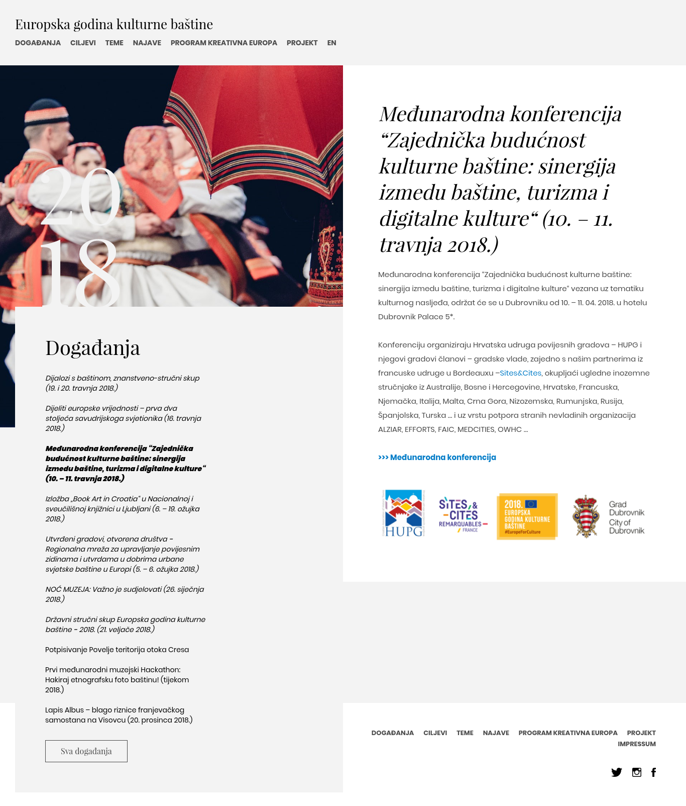 HUPG konferencija - Europska godine kučturne baštine